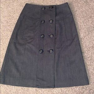 Size 0 limited brown button skirt